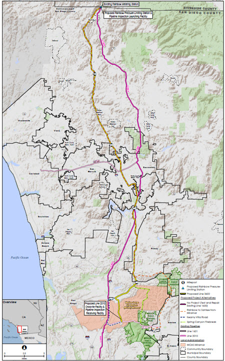 San Diego Gas Electric Company And Southern California Gas - Map of existing us pipelines